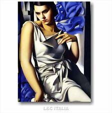 Tamara de Lempicka Ritratto di madame M. QUADRO 50x70 RIPRODUZIONE STAMPA TELA