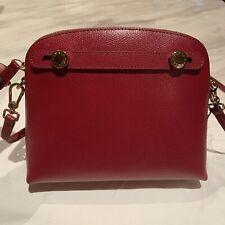 Furla Ciliegia D Burgundy Crossbody Mini Bag Gold Tone Hardware Italian Leather