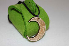 "Celtic Moon Jewelry With 20"" Leather Necklace Gift Felt Jewellery Box Free"