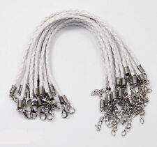 Hot Wholesale 5/20/100Pcs Leather Cord Braid Rope Bracelets Jewelry DIY 9.5""