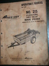 New Idea Model 215 Power Take Off Manure Spreaders Operator'S & Parts Manual