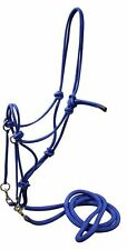 Showman BLUE Nylon Rope Bitless Bridle With Nylon Reins! WESTERN HORSE TACK!