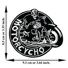 Skull Motorcycho No. 13 Biker Motorcycle Rock Applique Iron on Patch Sew