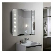 60 LED LIGHT BATHROOM MIRROR CABINET SHAVER SOCKET DEMISTER w/ SENSOR