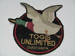 TOPPA - Patch  ricamata  -  CHEVIGNON LOGO anni 80  -  Cm. 17 x 18   Iron on