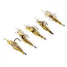 Trout Bass Soft Plastic Simulation Prawn Bait Hook Fishing Lures Shrimp Bait