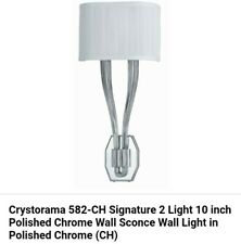 Crystorama 582-CH Signature 2 Light Sconce In Polished Chrome