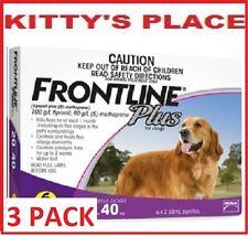 Frontline Plus Flea & Tick Treatment For Dogs LARGE 20 - 40kg   3 Pack
