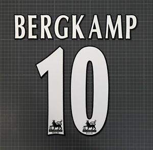 BERGKAMP #10 1997-2006 Player Size Premier League White Nameset Lextra