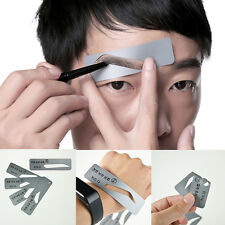 5 Styles Brow Drawing Guide Eyebrow Template Grooming Stencil for Mens