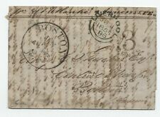 1855 Malta to Boston MA stampless letter [45.231]