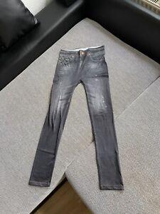 Hingucker: Damen Leggings in Jeans-Optik / Stretch / Größe 38-40 / M