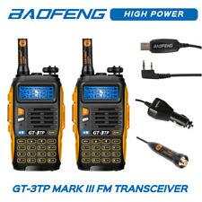 2x Baofeng GT-3 TP MarkIII Tri-power 1/4/8W UHF/VHF Talkie Walkie + USB Câble CD