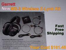 Garrett New Ms-3 Wireless Z-Lynk Headphone Kit for Metal Detector Free Shipping