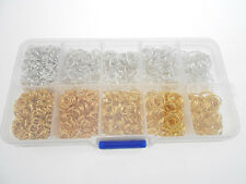 Mix 2600PCS 5-9MM Silver Gold Plated Beading Jewelry Findings Jump Rings In Box