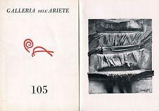 Scarpitta, Salvatore 1958-1963. Galleria dell'Ariete n. 105