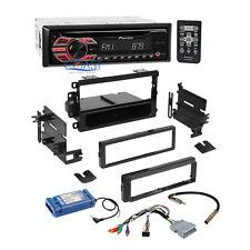 Pioneer Car MP3 USB Stereo GM Din Dash kit Amp Steering Retention Harness