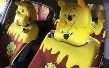 Winnie The Pooh car seat covers (pair) - full set with headrest covers. Official