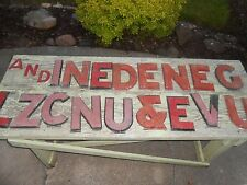 "CHOICE OF VINTAGE Advertising CAST ALUMINUM 8"" MARQUEE LETTER SIGN I N E D C V U"