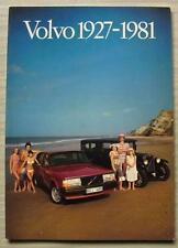 VOLVO 1927-1981 History Company Publicity Brochure #PR/PV 820203