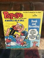 Popeye Whale of a Tale - See Hear Read - Book and Record - Vintage - 1969