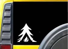 Tree Tent Fire Camping Sticker J973 6 inch camper decal