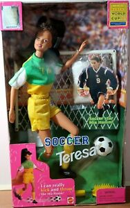 Teresa Barbie Doll FIFA Women's World CupVintage Soccer 1998 Damaged Box