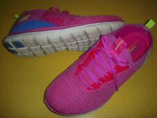 Skechers Turn Knit, Memory Foam, Faux Lace, Slip-On Sneakers Women's 12 W Pink