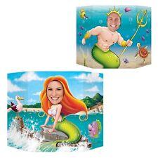 Sirena y Neptuno Foto Prop-decoración fiesta-Recortes & standins