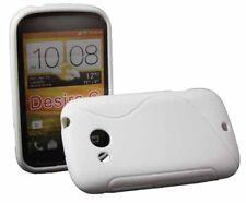 Rubber Case Wave für HTC Desire C in weiß Silikon Skin Hülle Bag weiss white