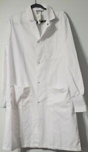 Fashion Seal Healthcare Knee Length Lab Coat , White, Size Medium