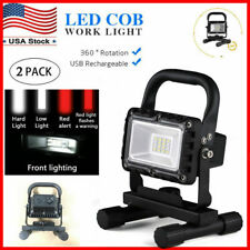 2PCS portable LED Work Light Rechargeable Inspection Flashlight Flood Lamp stand