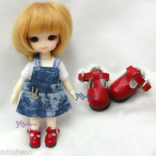 Mimi Collection Hujoo Baby Obitsu 11cm Body Bjd School Maryjane Doll Shoes Red