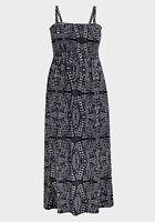soft ladies womans maxi dress black white size 16 18 20 22 24 26 28 2XL 3XL 4XL