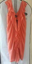 Women's H&M georgette   dress  tunic  salmon color  size UK 8 BNWOT