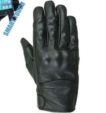 Gants En Cuir Moto, Sports, Motard, Protection, Chopper, Homme, CE Protecor