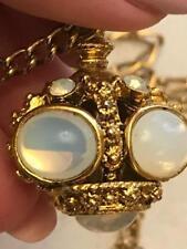 Royal Crown Vintage  Exquisite MARC JACOBS Gold Tone Moon Stones Chain Necklace