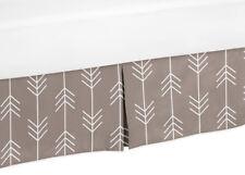 Gray And White Arrows Toddler Bed Skirt Dust Ruffle For Sweet Jojo Bedding Set