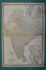 British India Vintage Original 1894 Rand McNally World Atlas Map Lot