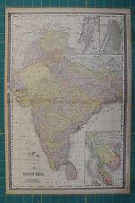 British India Vintage Original 1894 Rand McNally World Atlas Map Lot