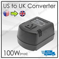 STEP DOWN VOLTAGE CONVERTER Transformer 230V TO 110V 100W USA TO UK Adapter