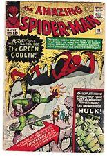 Amazing Spiderman #14 (First Green Goblin) -- est. grade 3.0-3.5