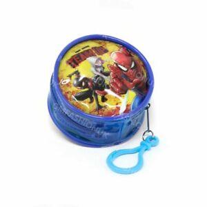 Marvel Spiderman Character Children's Kids PVC Round Coin Wallet Purse Zip Clip