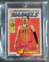 TRAE YOUNG 2019-20 Panini Donruss NET MARVELS #16 Insert SP, GREAT Centering!