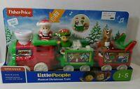 Fisher-Price Little People Musical Christmas Train - Santa, Elf & Reindeer - NEW