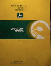John Deere 108 111 Riding Yard Lawn Garden Tractor & Mower Owners Manual 42pg