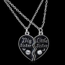 Big Sister Little Sister Two broken heart Necklaces =UK seller=