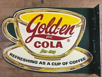 Golden Girl Sun Drop Soda Advertising Flange Sign Limited Edition Only 750 Made