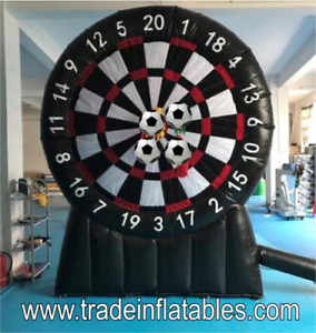 Giant Dartboard inflatable 3m and 6 x Darts Footballs UK company.