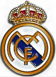 Real Madrid Crest Metall / Emaille Anstecknadel - Offiziell Lizenziert Produkt